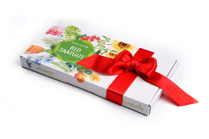 Saatgut-Abo Gemüsesamen Grüne Box Weihnachtsgeschenk für den Garten