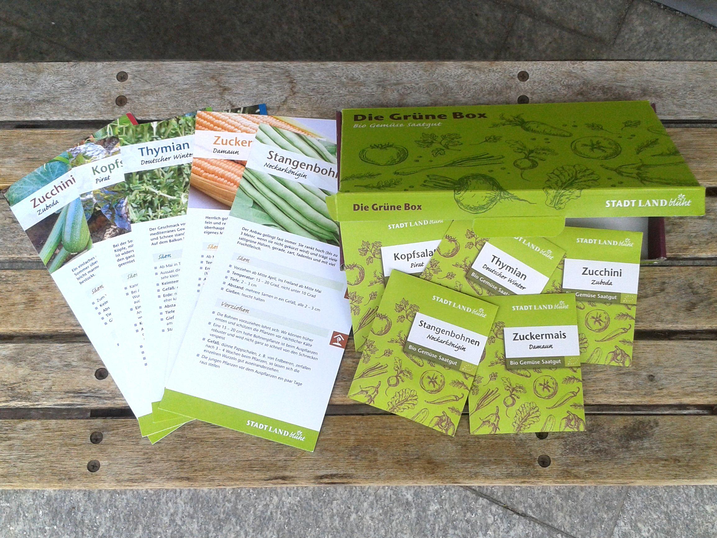 Bio-Saatgut in der Grünen Box