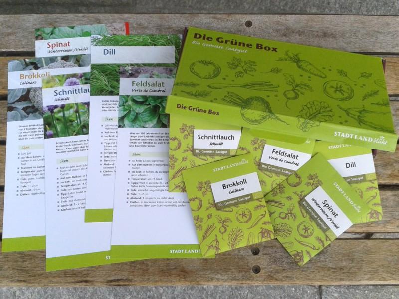 Bio Saatgut mit der Grünen Box