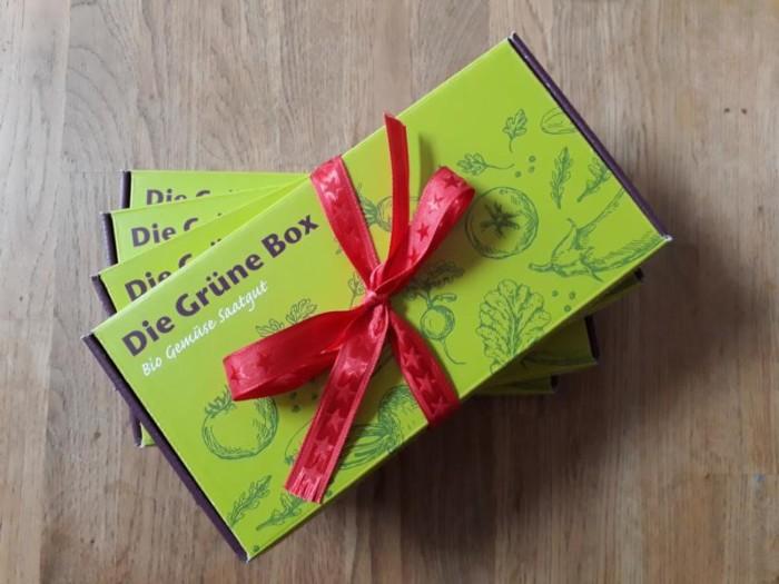 Für alle, die ein Weihnachtsgeschenk für Gärtner suchen: die Grüne Box als Geschenk-Abo