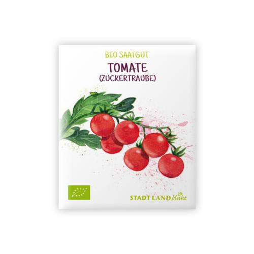 ökologisches Saatgut STADT LAND blüht. Bio Saatgut Tomate Zuckertraube.