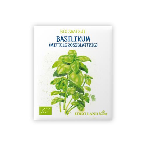 Bio Saatgut Basilikum mittelgroßblättrig