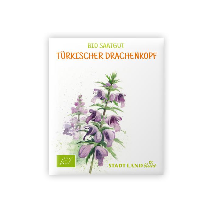 Bio Saatgut Türkischer Drachenkopf. Ökologische Blumensamen von STADT LAND blüht.