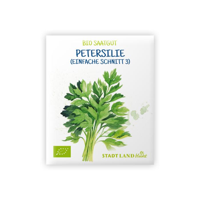 Bio Saatgut Petersilie Einfache Schnitt 3 glattblättrig.