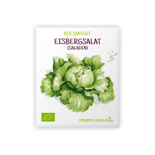 Saatgut Salat bio Eisbergsalat Saladin